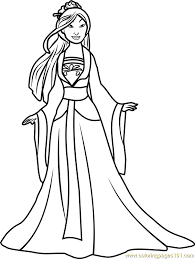 princess mulan coloring free disney princesses coloring