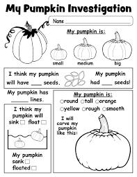 Free Printable Worksheets Pumpkin Investigation Worksheet Free Printable