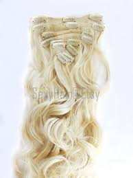 Clip In Blonde Hair Extensions by Ready To Ship 23 Platinum Blonde Hair Extensions Bleach
