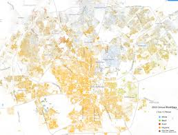 Ethnic Map Of Los Angeles by Stunning Diversity Map Shows San Antonio U0027s Racial Divide San