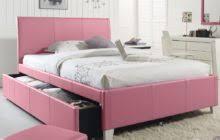 Upholstered Bed Frame Full Princess Style White Wooden Full Bed Frame With Satin Upholstered