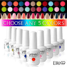 amazon com elite99 soak off gel nail polish 5 colors beauty