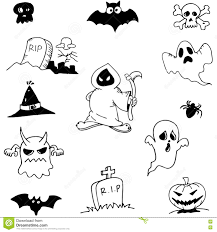 character ghost halloween in doodle stock vector image 73259391