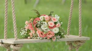 flowers in garden images flowers on wedding swing in garden background stock video