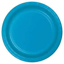 paper plates 24ct turquoise blue paper plates target