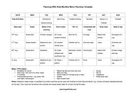 menu planners templates updated free monthly menu planning template and meal list