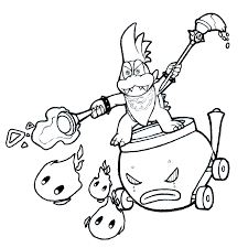 koopa coloring pages larry koopa and the podoboos burn the plate by realarpmbq on