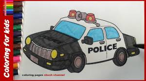 police car coloring pages painting for kids from coloring pages