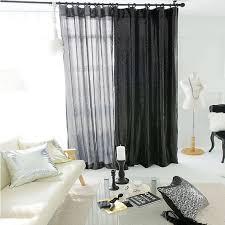 Black Sheer Curtains Dazzle Glitter Silver Black Sheer Single Curtain By Enapremium