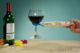 wine bottle plates wine glass plate hold your drink and appetizer plate with