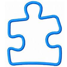 digi dolls puzzle piece applique machine embroidery design 4x4 5x7