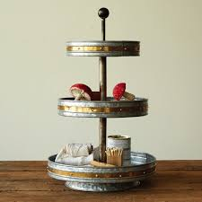 3 tier stand metal 3 tier display stand antique farmhouse