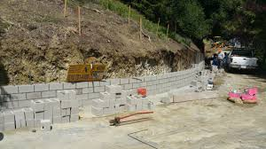 home design cinder block retaining wall drainage patio garage