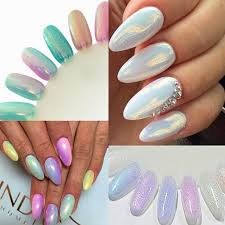2017 brand new 12 colors mermaid effect nail glitter nail art tip