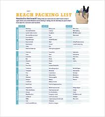 Excel List Templates Packing List Template 10 Free Word Excel Pdf Format