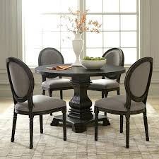 black dining table bench with white chairs marble round decor