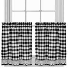 black kitchen curtains for window jcpenney