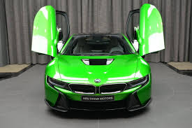 Bmw I8 Green - lava green bmw i8 with ac schnitzer bits delivered in abu dhabi
