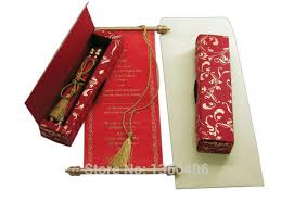 Scroll Invitations Chinese Red Scroll Invitation Cards Wedding Invitations Custom