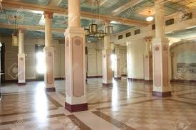 Art Deco Interior by Art Deco Building Interior With Pillars And Light Coming From