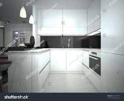 contemporary kitchen style 3d render stock illustration 267166316