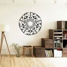 aliexpress com buy muslim wall stickers 58 57cm arabic home decor art work on sale at reasonable prices buy muslim wall stickers arabic calligraphy removable creative round black wallpaper mural art home decor