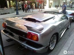 silver lamborghini diablo lamborghini diablo vt millennium metallico roadster 19 june 2014