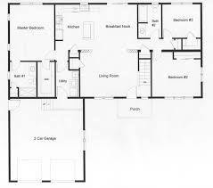 3 bedroom ranch house floor plans floor plans for ranch homes open floor plan with the privacy of