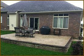 ashler slate stamped concrete patio traditional patio stamped
