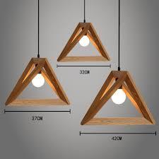 suspension design chambre weare home suspension design triangle en bois côté 32cm style