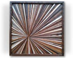 reclaimed wood artwork wall sculpture rustic modern decorative