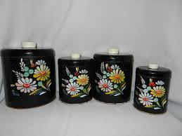 vintage kitchen canister set vintage ransburg hand painted canister set kitchen needs