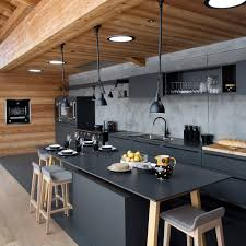 cuisine mur noir envie de noir dans ma cuisine kitchens kitchen design and