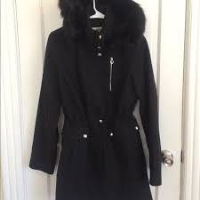 laundry by design hooded jacket laundry by design jackets blazers laundry by design fauxfur