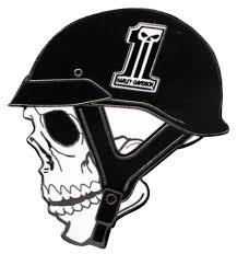 harley davidson skull helmet 1 skull logo pin black white 1 5 x
