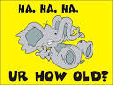 Youre How Old? �� Birthday cards �� E-cards �� Fun Stuff �� Youthoria