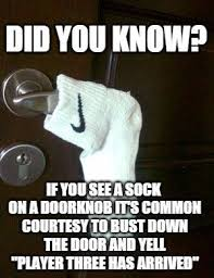 Sock Meme - if you see a sock on the door http ift tt 1sm09tv via r