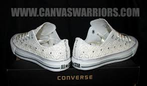 wedding shoes converse custom vintage lace wedding converse canvas warriors