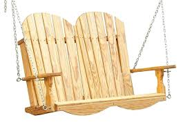 adirondack porch swing made from clear western red cedar and