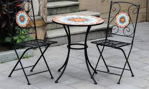 Patio Bistro Table Winsome House Mosaic Patio Bistro Furniture Set 3 Piece Groupon