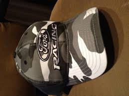 Ford Camo Trucker Hat - mustang ford racing logo hat black and white camo free shipping