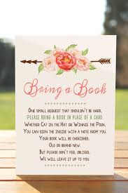 baby shower instead of a card bring a book bring a book instead of a card bring a book baby shower insert