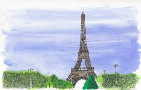 eiffel tower matthew midgley illustration