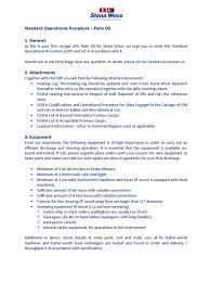 standard operational procedure palm oil pdf hvac cargo