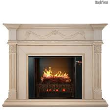 Realistic Electric Fireplace Aphrodite Antique Ivory Holographic Electric Fireplace W