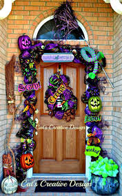 Halloween Wreath Ideas Front Door 3318 Best Holiday Decor Images On Pinterest Deco Mesh Wreaths