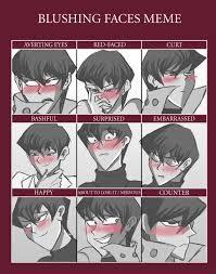 seto kaiba blushing faces meme by seth oh on deviantart