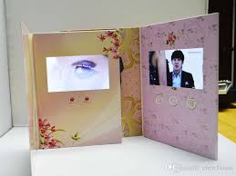 sle order digital lcd brochure greeting card for wedding