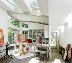 Creative Skylight Ideas Design Ideas Dashing Studio With A Innovative Ceiling Design