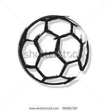 soccer ball easy all editable stock vector 360667187 shutterstock